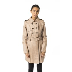 Coat Brown Byblos Woman UK 14 - XL