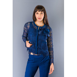 Jacket Blue Twinset Woman UK 8 - S