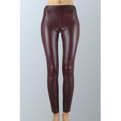 Leather Legging Burgundy Sam-rone Woman