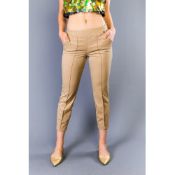 Trousers Beige Twinset Woman UK 16 - XXL