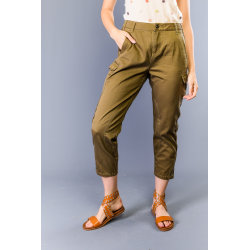 Trousers Military green Twinset Woman 25