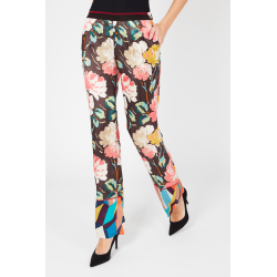 Trousers Multicolor Twinset Woman UK 14 - XL