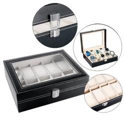 Lyxig Klockbox / Klocklåda för 10 klockor