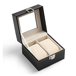 Lyxig Klockbox / Klocklåda för 2 klockor