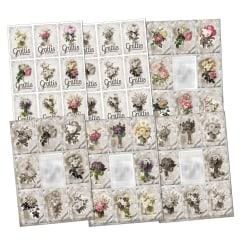 6st Scrapbook Klippark Blommor