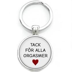 Nyckelring Alla hjärtans dag Tack för alla orgasmer