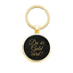 Nyckelring Du är guld värd.