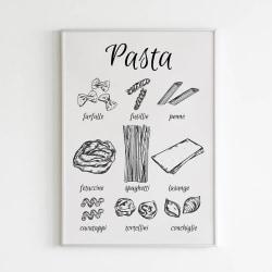 Poster A3 Pasta till köket