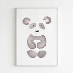Poster Print Djur Panda motiv Barnrum a4