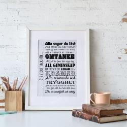 Poster Print Tack för alla sagor Fröken Pedagog present A4