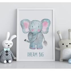 Poster Print till tavla i barnrum Elefant Dream Big