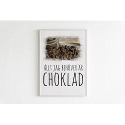 Poster till Tavla Allt jag behöver är choklad