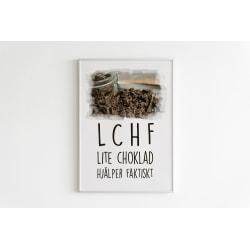 Poster till Tavla LCHF Lite Choklad Hjälper Faktiskt