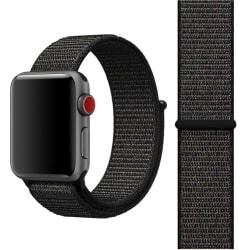 För Apple Watch 38mm Nylon Loop med kardborreknäppning  Svart