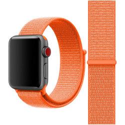 För Apple Watch 38/40mm Nylon Loop med kardborreknäppning Orange