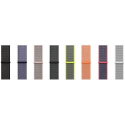 För Apple Watch 42mm Nylon Loop med kardborreknäppning  Black 42