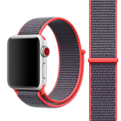 För Apple Watch 42mm Nylon Loop med kardborreknäppning Orange Orange 42
