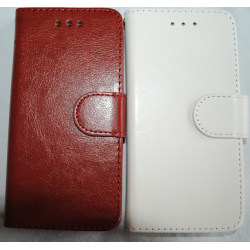 Plånkboksskal i läder av hög kvalitet till Samsung S6 Edge Vit