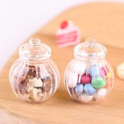 1:12 Dollhouse Miniature Round Glass Bottle Candy Jar Mini Cand