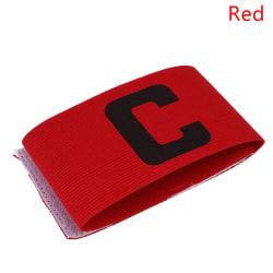 1 Pcs Football Soccer ArmBand Leader Match Captain Armband Adju Red