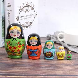 1 Set Nesting Dolls Color Painted Russian Matryoshka Doll Handm