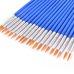 10Pcs Nylon Hair Artist Paint Brush Acrylic Watercolor Round Fi