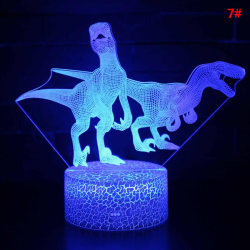 16 Color Change LED Light Touch Control 3D Dinosaur Night Light P7