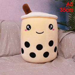 1pc Cute Cartoon Real-Life Bubble Tea Cup Shaped Pillow Super S A5