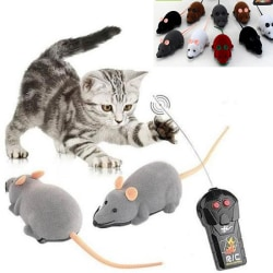 1PC Funny Remote Control RC Rat Mouse Wireless For Cat Dog Pet T random color