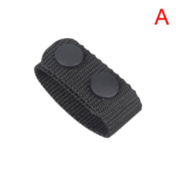 1pc Leather Black Plain Wide Belt Keeper Snaps Tactical Belt Buc A
