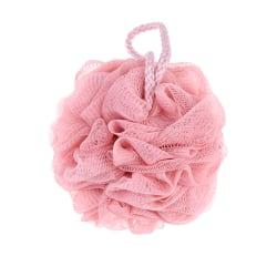 1pc Loofah Bath Ball Mesh Sponge Milk Shower Bathroom Supplies B Pink