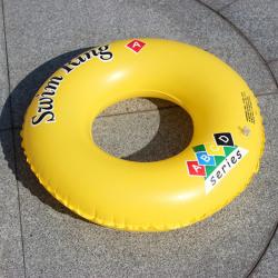 1pc Simning Ringar Beach Uppblåsbara Float Circle Water Fun Seat 70cm