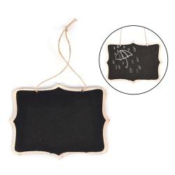 1X Mini Wooden Wedding Blackboard Chalkboard Hanging Message Nu