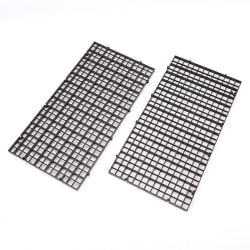 2 pcs grid divider tray egg crate louvre aquarium fish tank bot Black 30cmx15cm