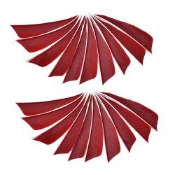 """20pcs/50pcs a lot 3"""" fletching arrow feathers turkey feather arr red 20 pcs"""