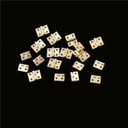 20pcs Mini Brass Plated Hinge Small Decorative Jewelry Cigar Bo One Size