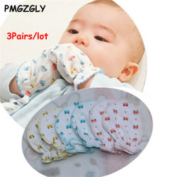 4 Pairs Cute Cartoon Baby Infant Boys Girls Anti Scratch Mittens