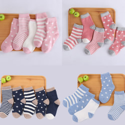 5 Pairs Baby Boy Girl Cotton Cartoon Socks NewBorn Infant Toddle Navy S