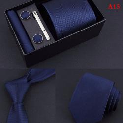 5 stycken Set Presentlåda Business formell slips näsduk manschett