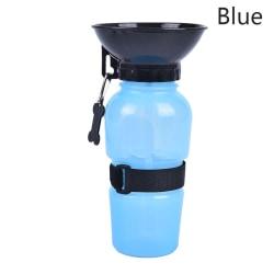 500 ml hund dricker utomhus resor vattenflaska husdjur valp katt po Blue