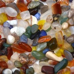 50g Blandade färger Naturliga Tumbled Agatsten Ädelsten Rock Abou 0 0