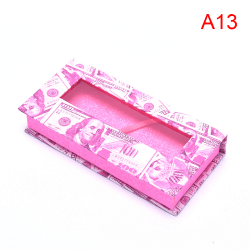 5pack eyelash packaging box packaging lashes square empty case A13
