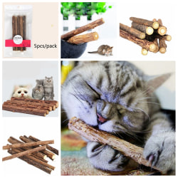 5pcs Pet Chew Stick Natural Matatabi Catnip Cat Molar Grinding