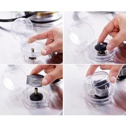 6pcs Gas Stove Oven Knob Cover Padlock Lid Lock Protector Baby K 6pcs