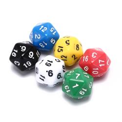 6pcs/set games multi sides dice d20 gaming dices game playing mi