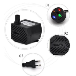 AC 220V 3W Submersible Water Pump LED Aquarium Fountain Fish Po one size