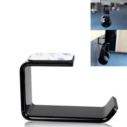 Acrylic Headphone Stand Hanger Hook Tape Under Desk Dual Headset one size