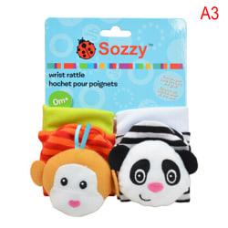 Animal Baby  Soft Hand Wrist Band Foot Socks Rattles Development A3