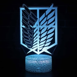 Anime Attack on Titan Acrylic 3d Led Lamp for Home Room Decor L B2