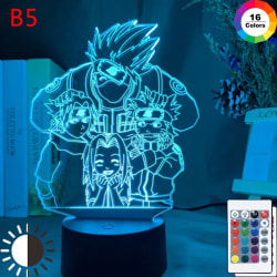 Anime Naruto Uzumaki Led Night Light Team 7 Sasuke Kakashi Hata KX-1833 16Color